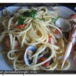 Spaghetti med hjärtmusslor och scampi