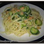 <!--:it-->Spaghetti con Gamberetti e Zucchine<!--:--><!--:se-->Spaghetti med räkor och squash<!--:-->