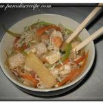 Spaghetti di riso (noodles) al pollo e nostalgia