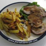Arrosto di vitello con le patate al forno
