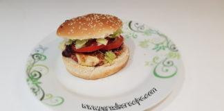 Burger di cannellini e barbabietola